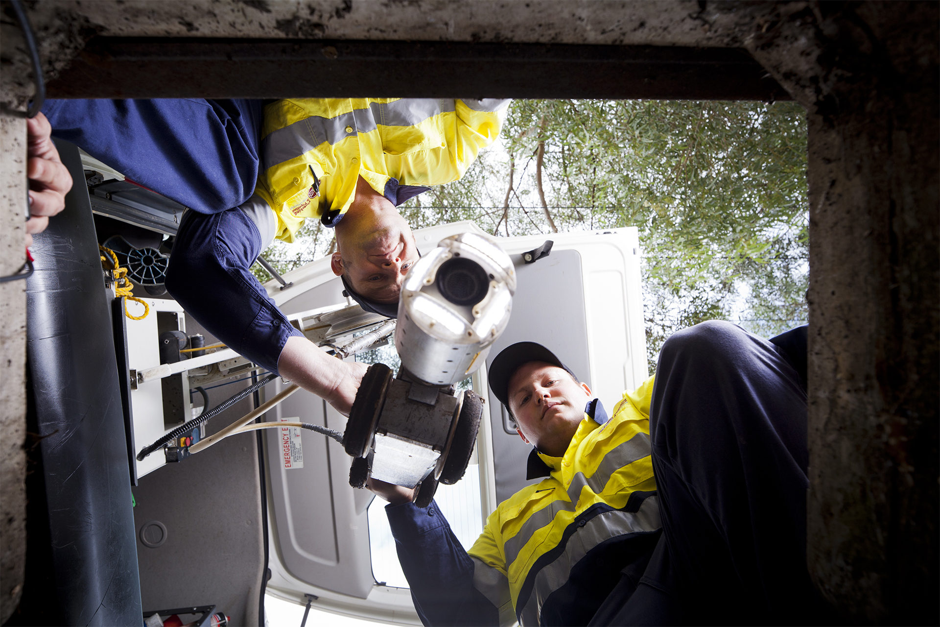 Commercial plumbers are doing CCTV pipeline inspection